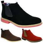 NEW MENS NUBUCK SLIP PULL ON CHELSEA DEALER GUSSET ANKLE BLACK WORK BOOTS SIZE