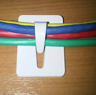 Ultra Strong Self Adhesive Steel Cable Tidy Hook Clip Organiser 20 Pk White SAF