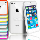 THIN TRANSPARENT CRYSTAL CLEAR HARD CASE BUMPER COVER FOR APPLE iPHONE 4 5 5C
