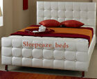 BROWN 5ft LEATHER BED DIAMONDS  ANY SIZE 3FT 4FT 4FT6  COLOUR SALE NOW ON!