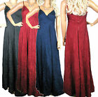 SALE LADIES MAXI DRESS CRINKLE STRAPPY RED NAVY BLACK WOMENS LONG