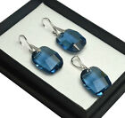 SWAROVSKI ELEMENTS CRYSTAL 19mm GRAPHIC Earrings/Set-STERLING SILVER - Colours