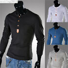 New Man Men's Stylish Fashion Casual Slim Fit Long Sleeve T-shirts Tops Tee T27