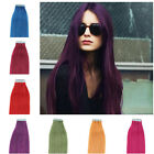 "Tape In Remy Real Human Straight Hair Extensions 20pcs 18""20""22"" 24"" 7colors"