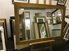 70mm FLAT LIGHT OAK STAINED SOLID OAK WALL AND OVERMANTLE MIRRORS- VARIOUS SIZES