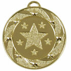 40mm Star Target Medal with Ribbon and Gift Box Available in 3 Colors