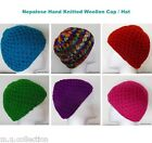 Womens Hand Knitted Hats - Wool Soft Warm Beanie Knitted Ladies Girls Hat Cap