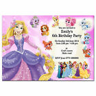 i12/pink Personalised Birthday party invitations invites 1st 2nd 3rd 4th 5th 6th