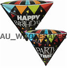 BIG! DIAMOND SHAPE HAPPY BIRTHDAY/ PARTY TIME BALLOONS BIRTHDAY /PARTY SUPPLIES