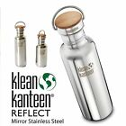 Klean Kanteen Reflect Stainless Steel Water Bottle Bamboo Cap 2 Sizes & finishes