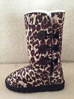 UGG Boots 3 Buttons Synthetic Wool Colour Brown Leopard for Junior Girl