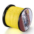 New!100M-2000M Yellow 6LB-300LB Super Strong Dyneema Braid Sea Fishing Line