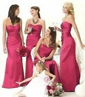 New Prom Party Bridesmaid Wedding Evening Dress Size6-8-10-12-14-16-18 Hot Pink