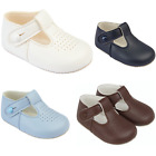 BABY BOYS SHOES, T BAR PRAM SHOES CHRISTENING BAPTISM WEDDING PARTY SHOES