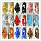 New Fashion Womens Ladies Long Curly Wavy Hair Full Wigs Cosplay Party