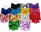 2 SEQUIN BOWS approx. 75mm wide (3 INCHES) - CHOOSE COLOUR UK - crafts headbands