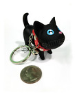 Внешний вид - Plastic Resin Kitty Cat Kitten Key Chain Ring Toy Figurine With Collar & Bell