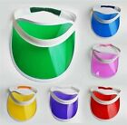 5 Colour Sun Visors 80's Golf Cap Rave Dance Poker Summer Sport Fancy Dress Neon