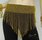 HenryG Beaded Egyptian Belly Dance Scarf/Belt/Hip Wrap: Gold, Belly Dance Wear,
