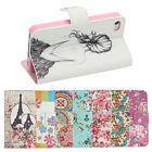 Vintage Style PU Leather Wallet Flip Case Cover Stand For iPhone 4/4S 5/5S