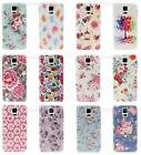 Flower plastic hard case cover for iphone 4 4s 5 5s  Samsung S5 i9600 Floral