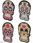 LIME à Ongles TÊTE de MORT Jour des Morts MEXICAIN Day of the Dead NAIL ART émo