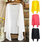Womens Casual Long  Sleeve Cardigan Sunscreen Blouse Thin Coat Outwear Tops
