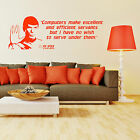 STAR TREK SPOCK LEONARD NIMOY Computers make ex VINYL WALL ART STICKER QUOTE on eBay