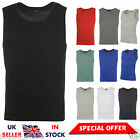 MENS BOYS SLEEVELESS GYM TRAINING SUMMER CASUAL ATHLETIC  BASIC MUSCLE VEST TOP