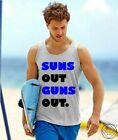 SUNS OUT GUNS OUT Vest Tank Top Summer Holiday Funny Mens 22 Jump Street Ibiza