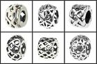 925 sterling silver charm bead spacer lattice charms Fit European Bracelet chain