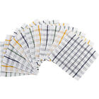 Checked Cotton Dishcloths Pack of Heavy Duty Kitchen Restaurant Cleaning Cloths