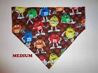 Chocolate M&M's Red Yellow Green Over Collar Slide On Pet Dog Cat Bandana Scarf