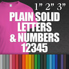 Iron-on Plain Solid Letters & Numbers Vinyl Fabric T-Shirt Transfer Sticker cool