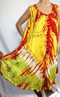Just Love Women Plus Size 3x Yellow Red Tie Dye Batik Gypsy