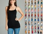 NEW LONG LAYERING TUNIC COTTON SPANDEX CAMI CAMISOLE TANK TOP REG PLUS S-3X