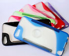 for iPod Touch 5th Gen - Transparent TPU Gel Gummy Hard Rubber Skin Case Cover