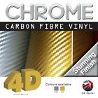 Chrome 4D Gloss Carbon Fibre Vinyl Bubble Free 4D Chrome Silver  4D Chrome Gold
