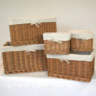 Rustic Wicker Storage Basket Tall Lined