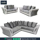 Bristol Silver & White Crushed Velvet Fabric Sofas | Suites & Corners Available