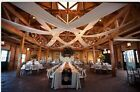 """Set of 2 White Wedding Roof Panels Voile 56"""" wide with 1 pocket on each end."""