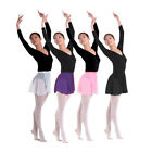 4 Color Chiffon Ballet Skirt Dance Skate Wrap over Scarf Dress