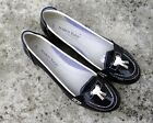 JUNIOR GIRLS MARCO TOZZI NAVY BLUE PATENT LOAFERS PUMPS BALLERINAS BALLET SHOES