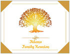 CUSTOM Gold FAMILY Tree REUNION Save the Date Postcard  Flat PERSONALIZED