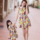 New Summer Family clothes Fashion Mother Daughter Dresses Girls kids dress