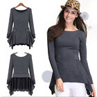 Pullover Sweater Neck Long Sleeve Knit Women Jumper New Top Pull Over Crew S