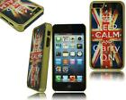 FOR APPLE I PHONE 4 4S 5 5S NEW STYLISH WOODEN PLASTIC HARD BACK CASE COVER