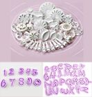 DIY Cake Flowers Mold Letters Alphabet Cookies Cutters Fondant Icing Plunger