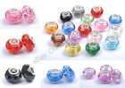 20pcs Mixed Acrylic FACETED Silver Plated Beads&core Fit Charms Bracelets 14MM image