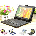 "Luxury 9"" Universal Micro USB Keyboard Case Stand Cover for Tablet PC Phablet"